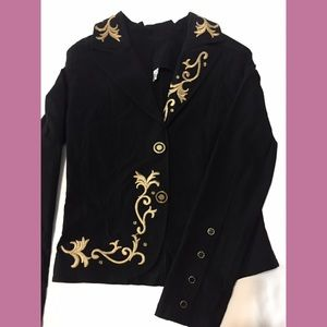 Black Jacket With Embroidery NWOT